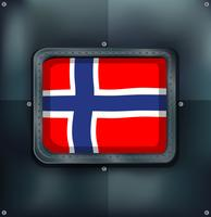 Norway flag in square frame