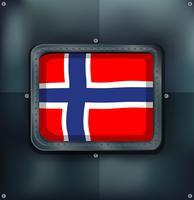 Bandera de Noruega en marco cuadrado