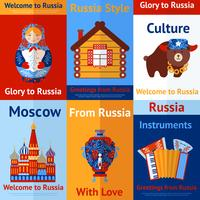 Russia travel retro poster vector