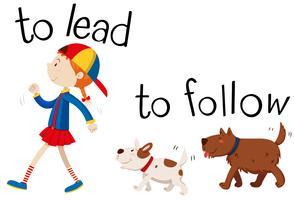 Wordcard oposta para liderar e seguir