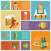 Icônes de bière mis à plat