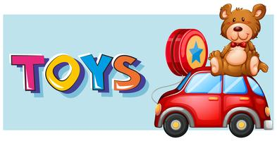 Poster design para brinquedos