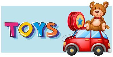 Diseño de cartel para juguetes.