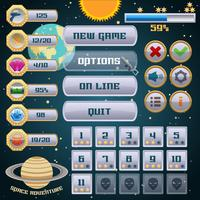 Weltraumspiel-Interface-Design