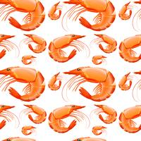 Seamless background design with shrimps