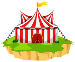 Tenda de circo na ilha