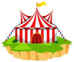 Circus tent on island