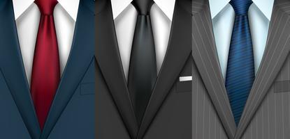 Conjunto de traje de hombre de negocios