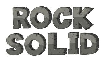Font design for rock solid