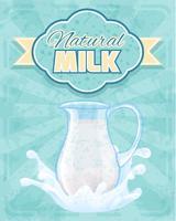 Cartel de la jarra de leche