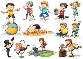 Människor gör olika aktiviteter
