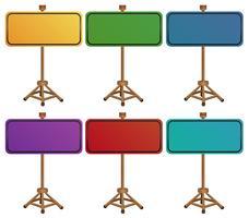 Panneaux vides colorés
