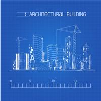 Architectural building blueprint