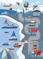 Concepto de transporte de la ciudad