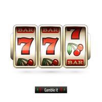 Realistic slot machine isolated