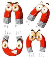 Magnete con espressioni facciali