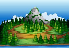 belle scène de nature et une montagne