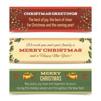 Christmas banner horizontal