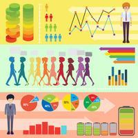 Infografik mit Menschen und Elementen