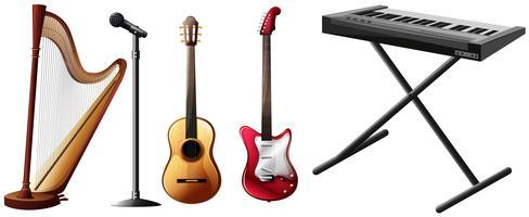 Olika typer av musikinstrument