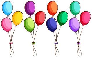 Un simple boceto coloreado de los globos.