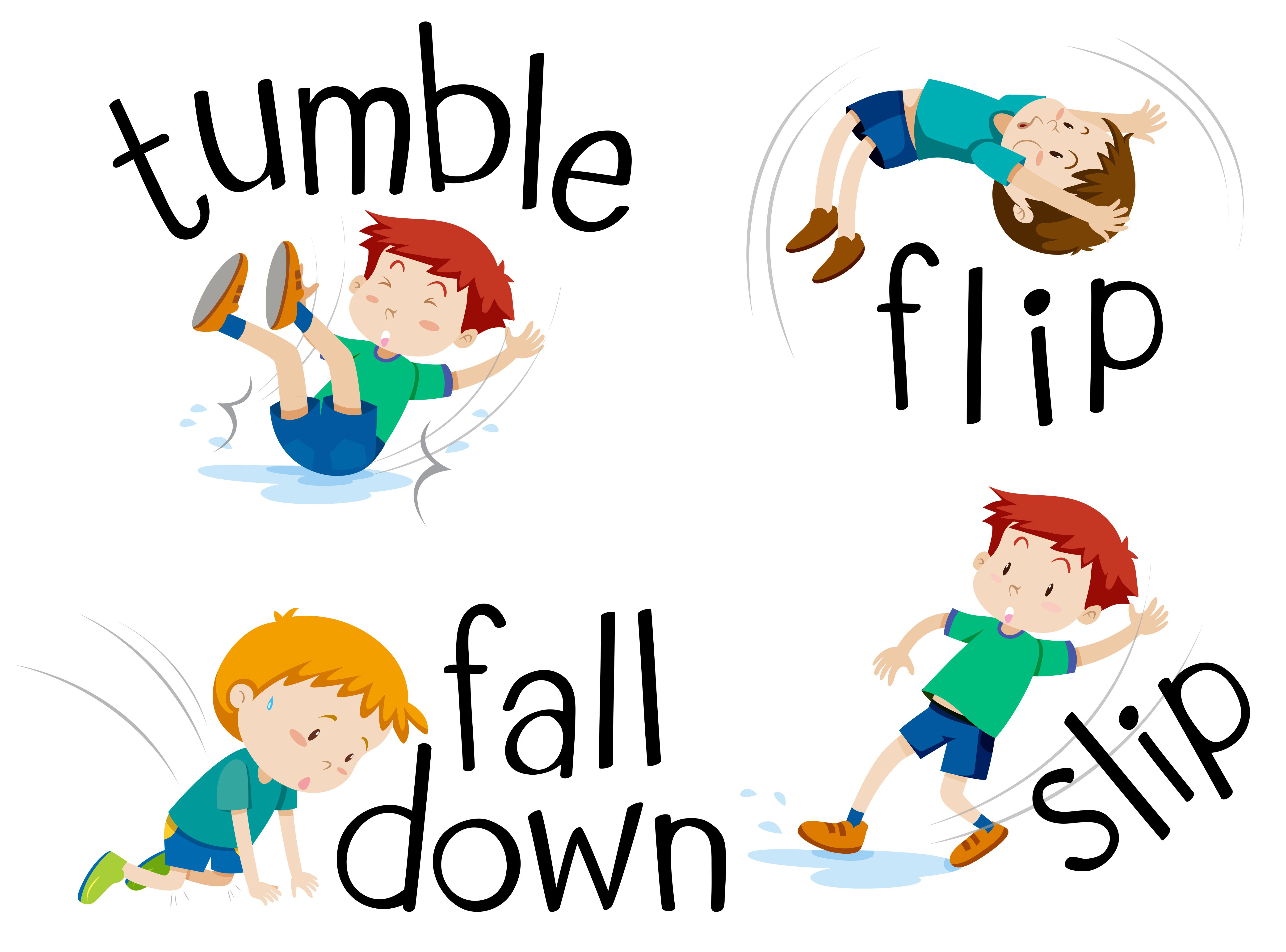 Falling Down Clip Art