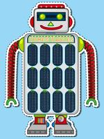 Times tables chart on robot toy