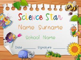 Certificaatsjabloon voor science-ster