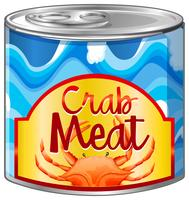 Crab meat in aluminum can