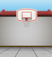 Basketball goal on the roof