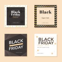 Vettore sociale di media di Black Friday Post