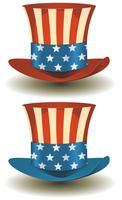 Uncle Sams Zylinder für amerikanische Feiertage
