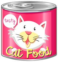 Cat food in aluminum can