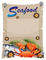 Banner template with seafood