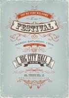 Cartaz do convite do festival de Grunge
