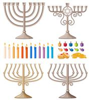 Candles and holders in different designs