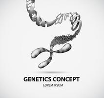 Genetics concept vector