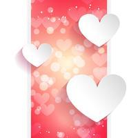 Herz-Grußkarte