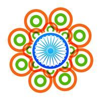 vector design creativo bandiera indiana con cerchi