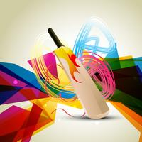 färgrik cricketbakgrund