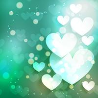 Fondo de corazón de día de San Valentín con efecto bokeh