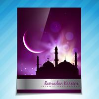 beau modèle de festival de ramadan