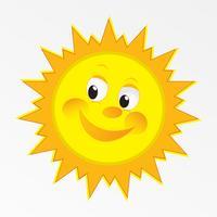 vektor lycklig sol vektorkonst