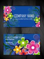 kleurrijke bloemen visitekaartjesjabloon