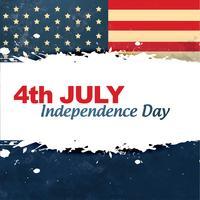 día de la independencia de estilo vintage