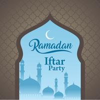 Carte de voeux et fond Ramadan Kareem islamique avec motif arabe