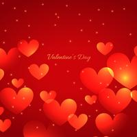 valentine day beautiful hearts background