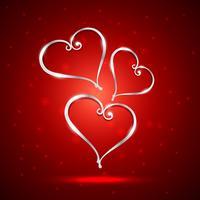 bella illustrazione del cuore nella priorità bassa rossa