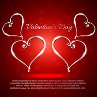 valentin dag hjärtan illustration