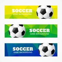 set of football headers vector
